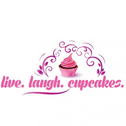 LIVE LAUGH CUPCAKE