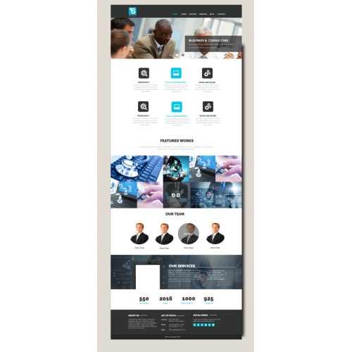 Website Template Design