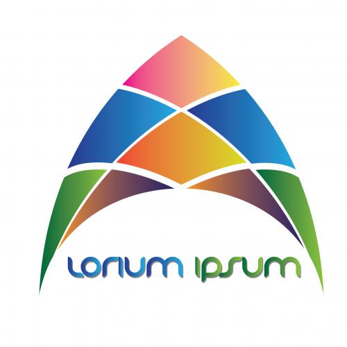 Colorful elegant logo design