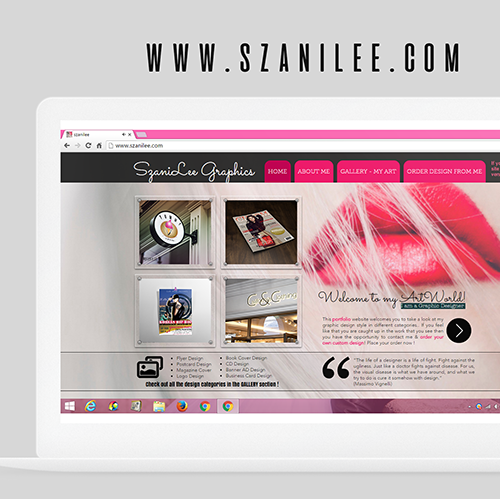SzaniLee Website Design