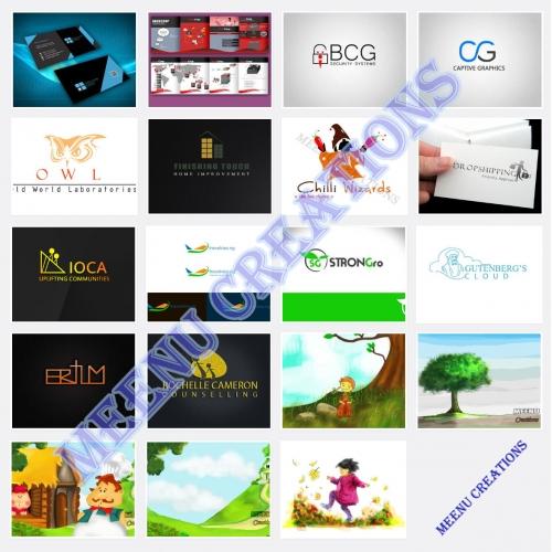 Logo designs, Business Cards, Brochures, Kids Illustrations