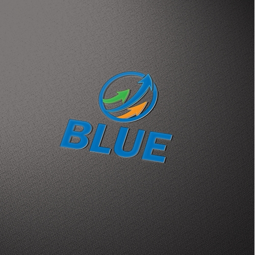 Blue logo design